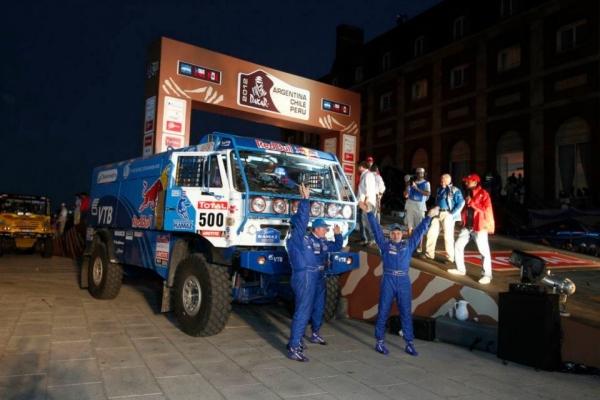 Дакар-2012, представление команды России участвующей на знаменитых грузовиках КАМАЗ