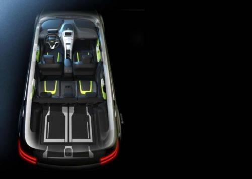 гибрид Шевроле Вольт МПВ5 (Chevrolet Volt MPV5) вид внутри, сверху