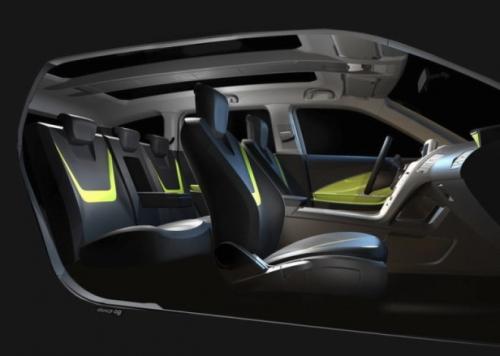 гибрид Шевроле Вольт МПВ5 (Chevrolet Volt MPV5) вид внутри