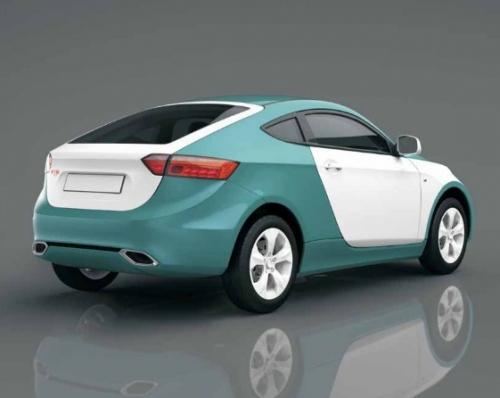 Ё-кросс-купе 2011, вид сзади