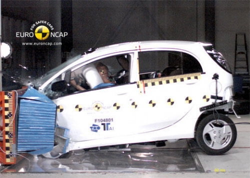 Mitsubishi i-MiEV 2011 (фронтальный краш-тест)