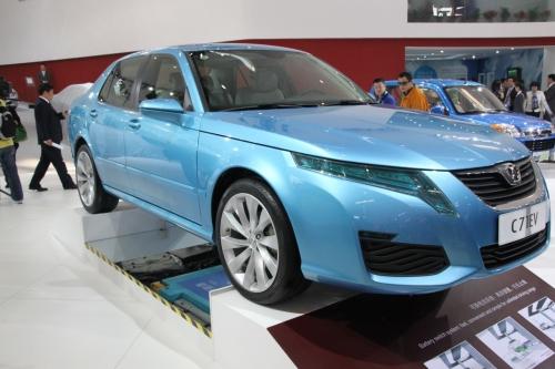 Китайский электомобиль BAIC C71 EV (вид спереди)